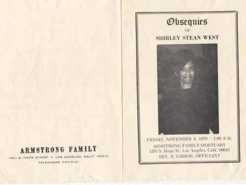 Shirley Stean West (5th Generation)